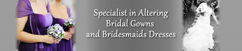 Bridal and Wedding Alterations and Fitting Specialists